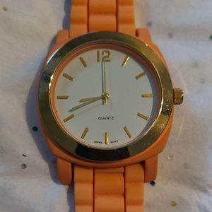 Coral Silicone Watch!